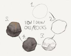 My way of drawing Ore/Rocks: