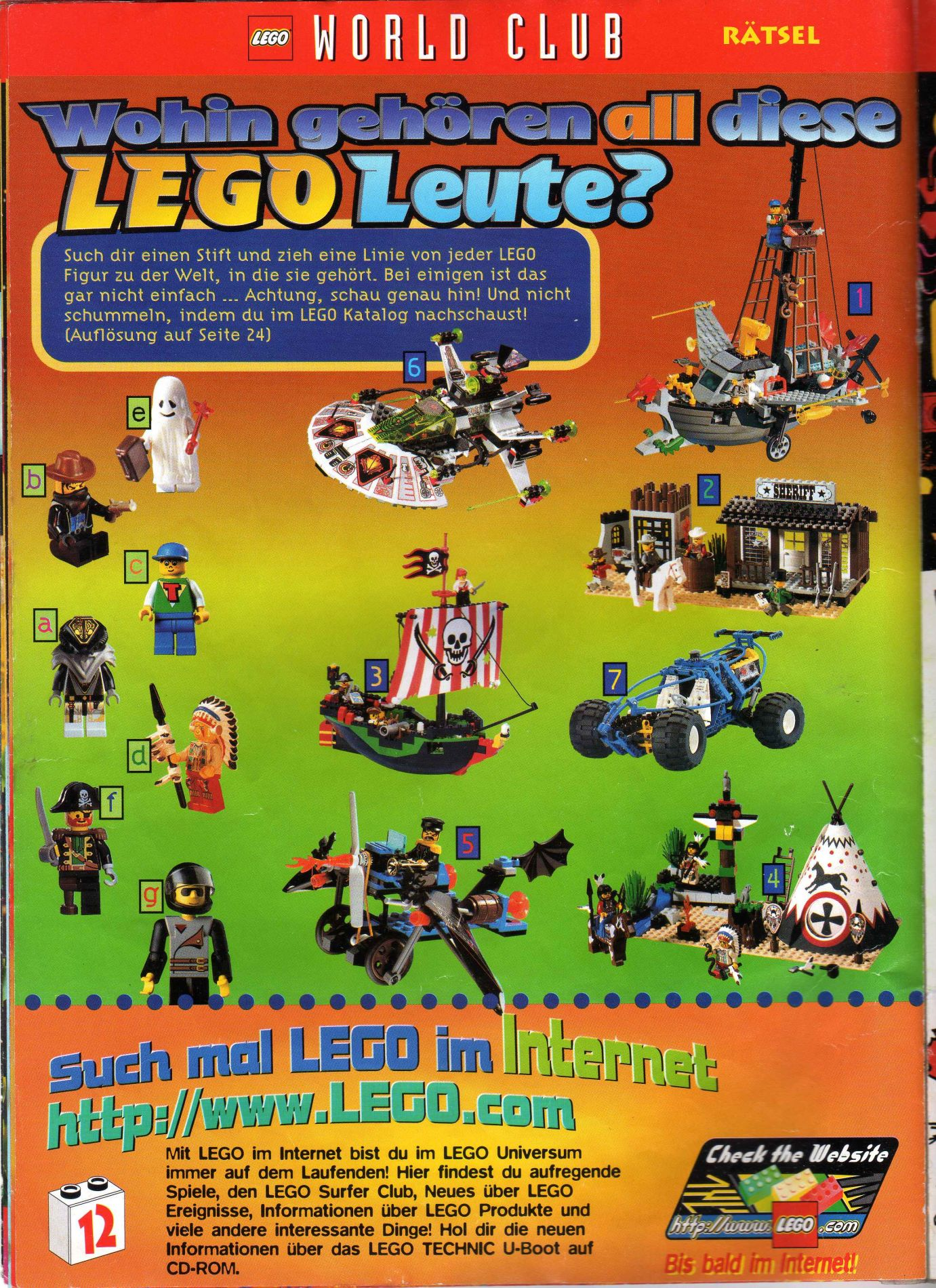 Lego World Club 1997 Issue 4 Rock Raiders United