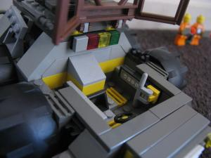 Mobile Gatling Laser - cockpit