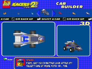 classic rocket racer car