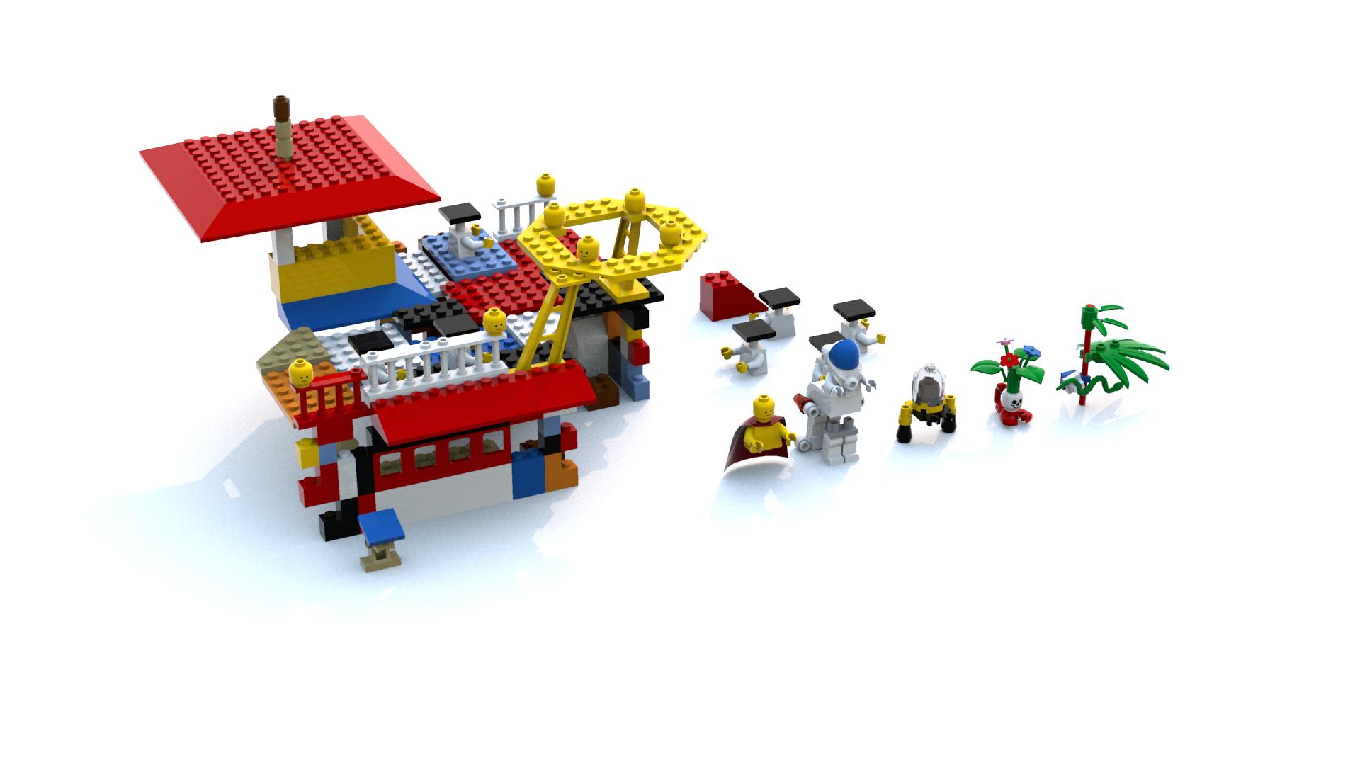 Lego Island 2 Ogel Island Pizzeria LDD Model - Personal