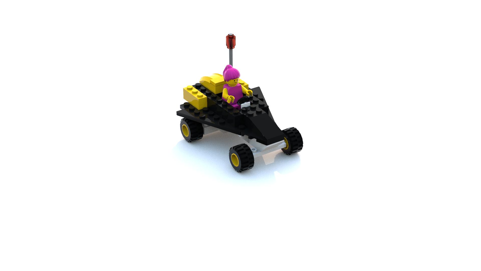 Island Xtreme Stunts Res-Q Buggy LDD Model (Fixed Colors)