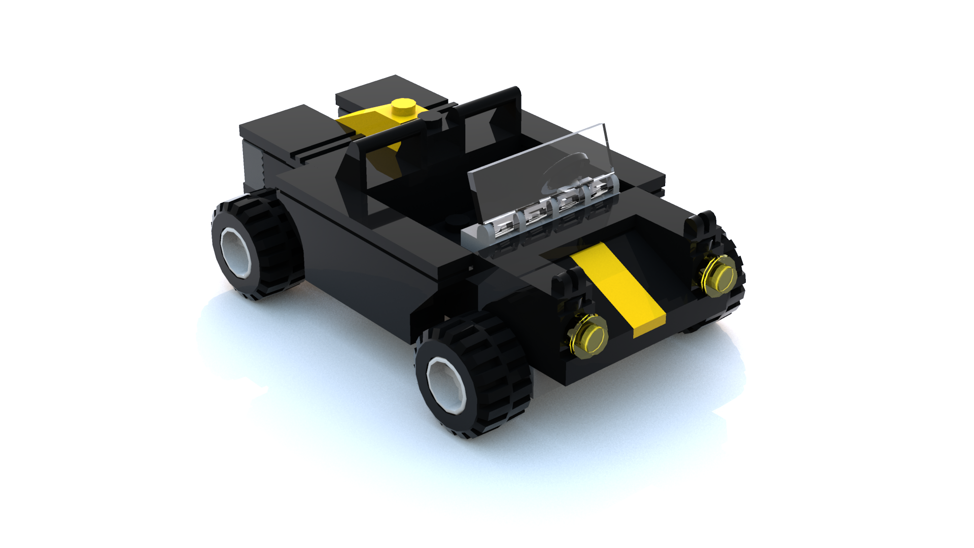 Lego Racers 2 Sandy Bay Taxi Car LDD Model - Personal