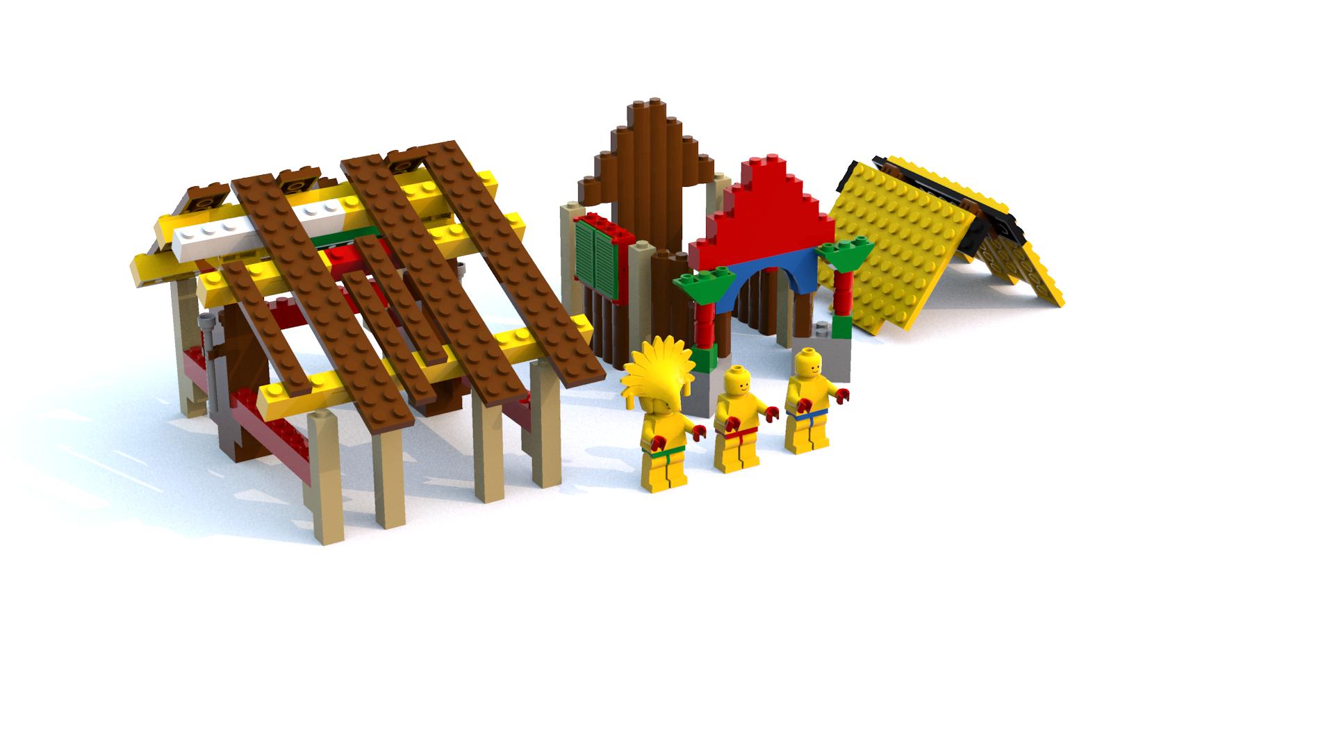 Lego Racers 2 Dino Island Islanders' Village LDD Model