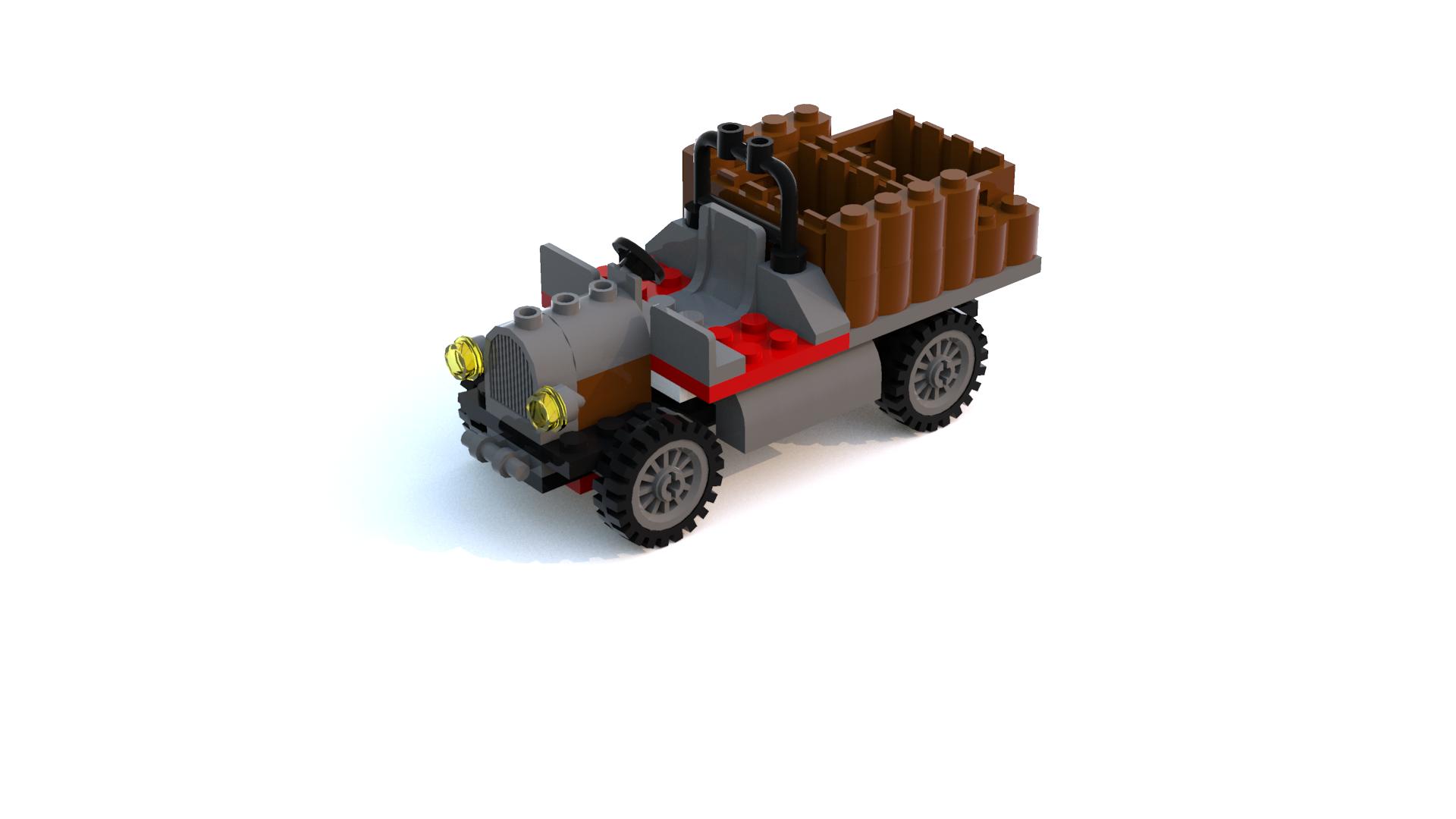 Lego Racers 2 Dino Island Pre-Built Car LDD Model - Personal