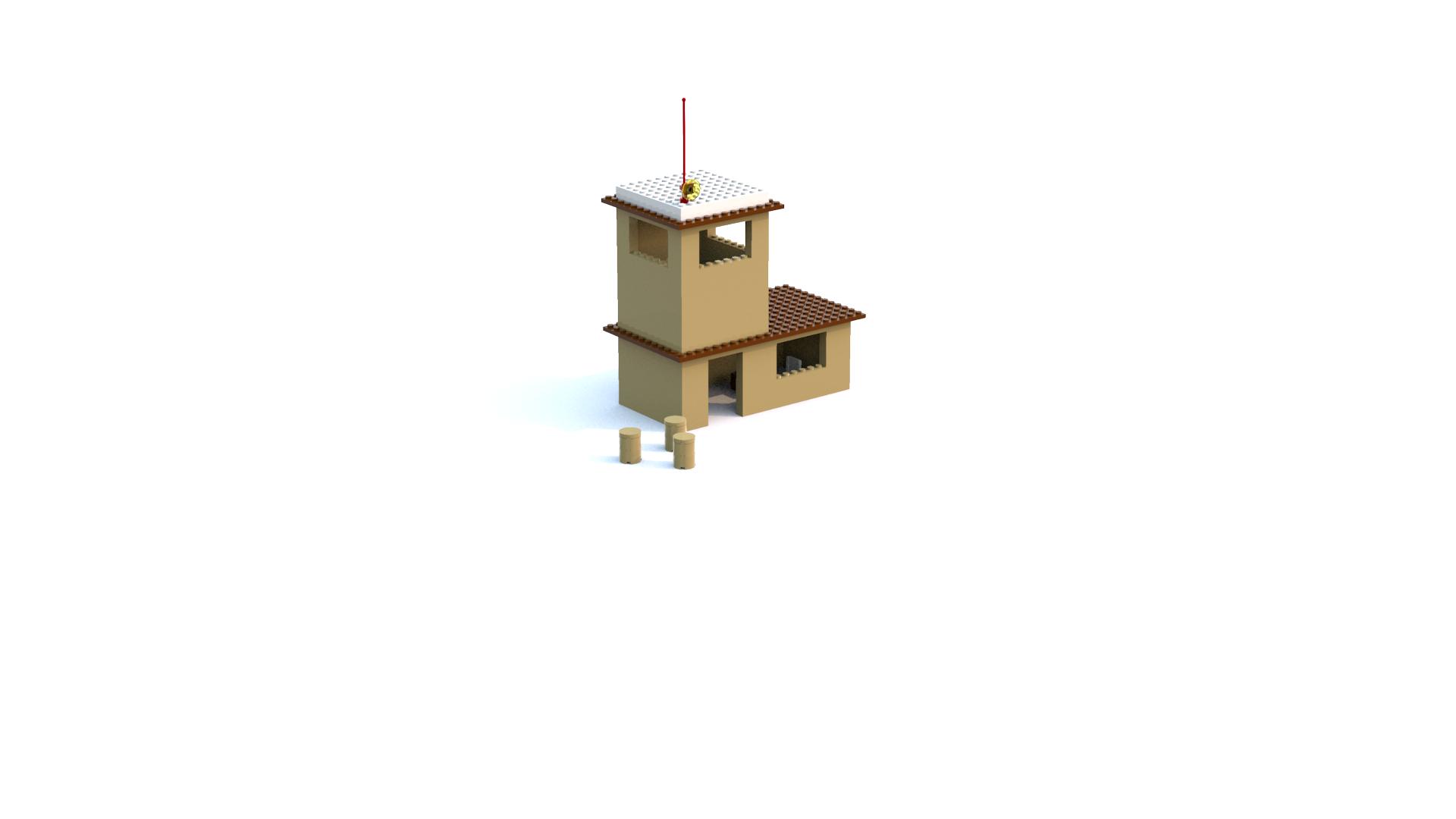 Lego Island 2 Adventurer's Island Helicopter Control Tower LDD Model