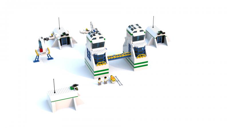 Lego Racers 2 Sandy Bay Science Labs (Launch Zone) LDD Model