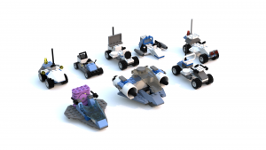 Lego Racers 2 Mars Pre-Built Cars LDD Models