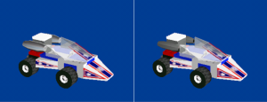 Rocket Racer's Car (Racers 2 build vs Racers build)