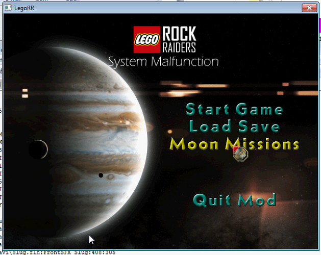 Main Menu in action