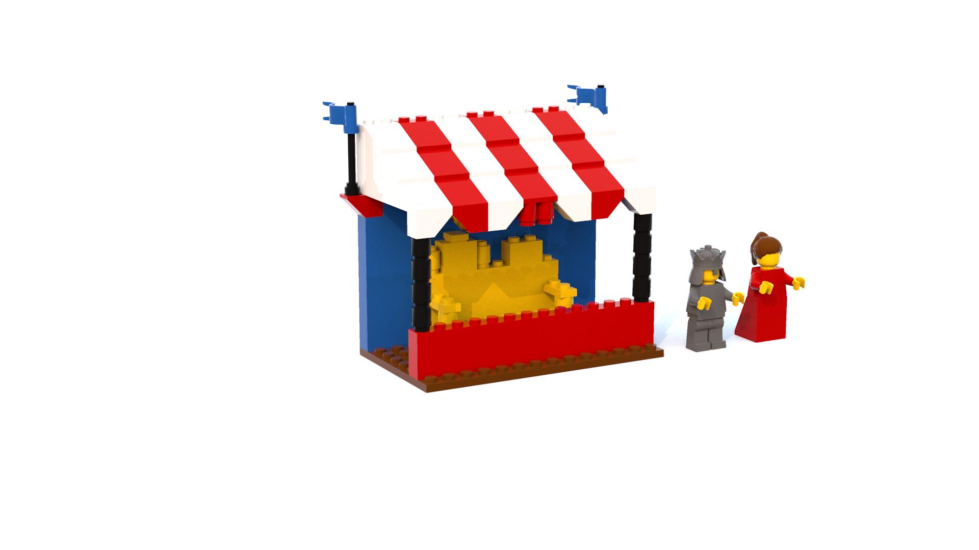 Lego Island 2 King Leo's Spectator Gallery LDD Model