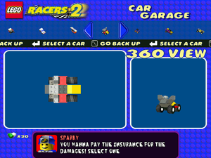 King Kahuka Car Builder Back View LEGO Racers 2