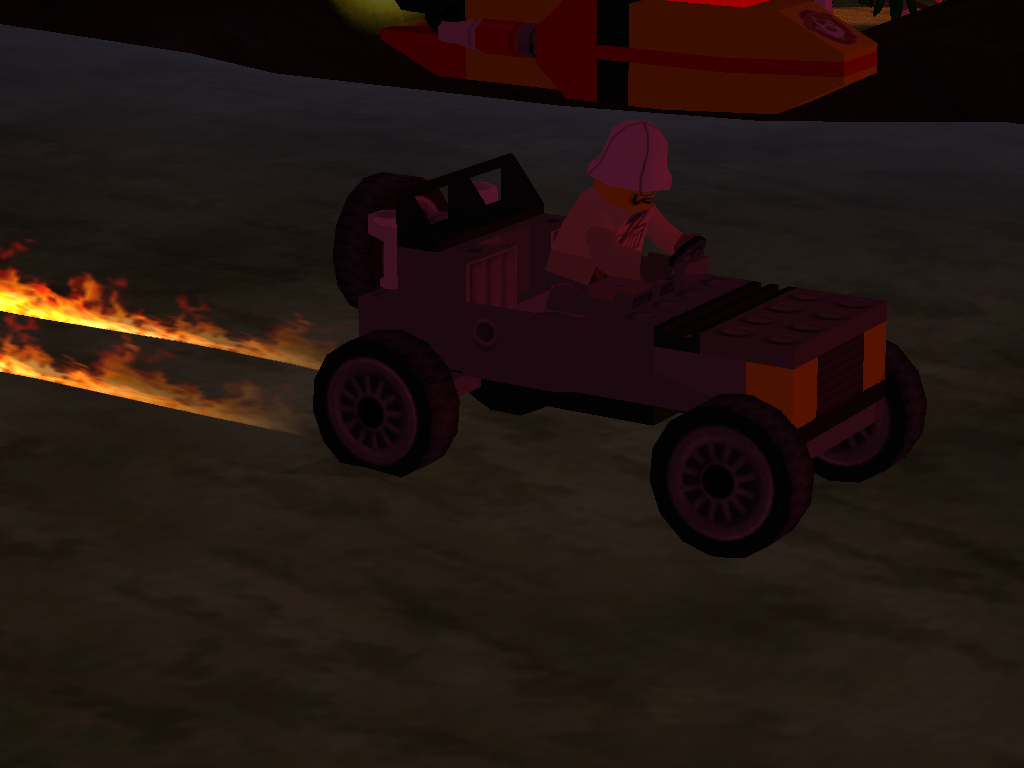 LEGO Racers 2 - Sam Sinister in his Lego Racers 1 Car