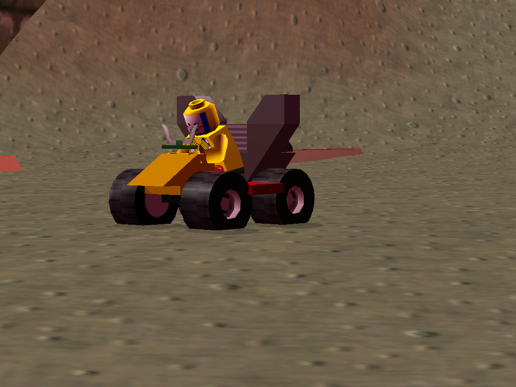 LEGO Racers 2 - King Kahuka driving his own Car!