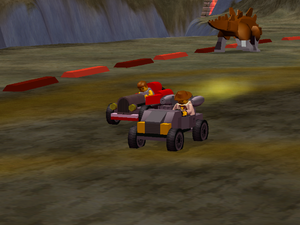 LEGO Racers 2 - Johnny Thunder in his Lego Racers 1 Car