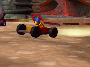LEGO Racers 2 - Achu Driving his Lego Racers 1 Car