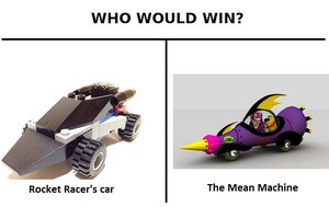 Rocket Racer's Car vs The Mean Machine