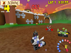 Racers alpha/beta screens upscale tests
