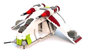 Lego Star Wars Videogame Republic Gunship LDD Model